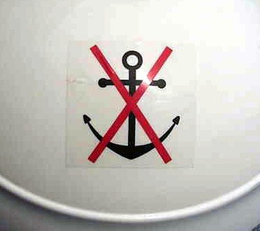 Prohibited anchoring decal